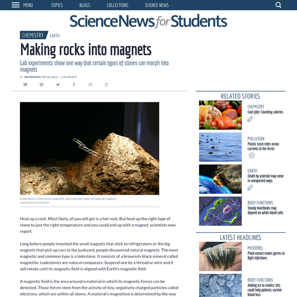 Making rocks into magnets