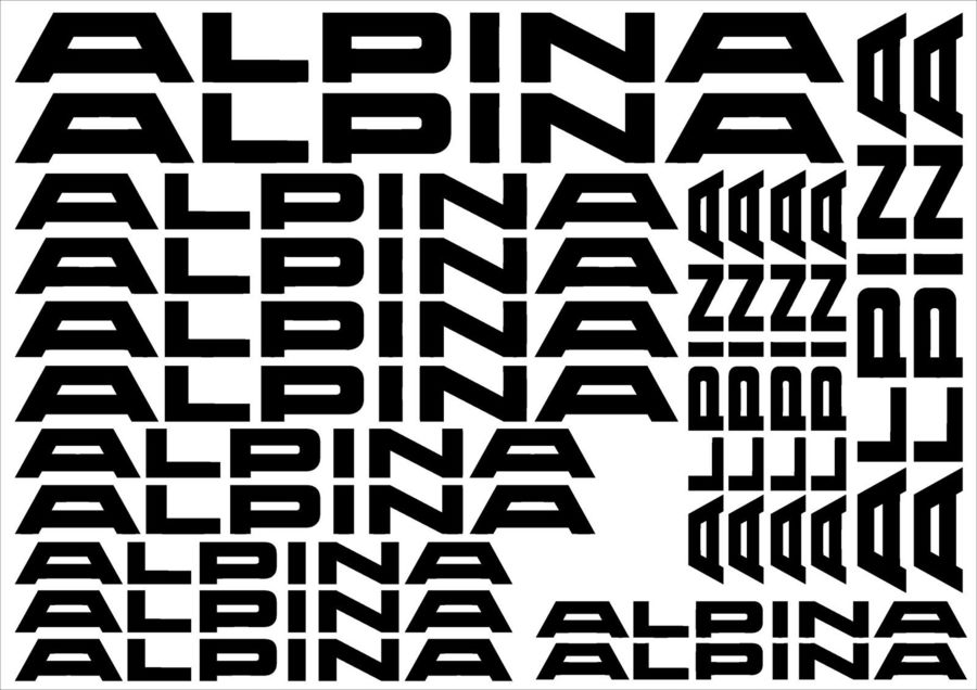 Alpina Decals, probably bootleg