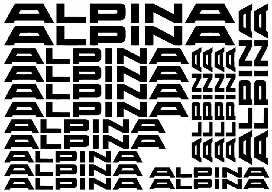 Alpina Decals, probably bootleg