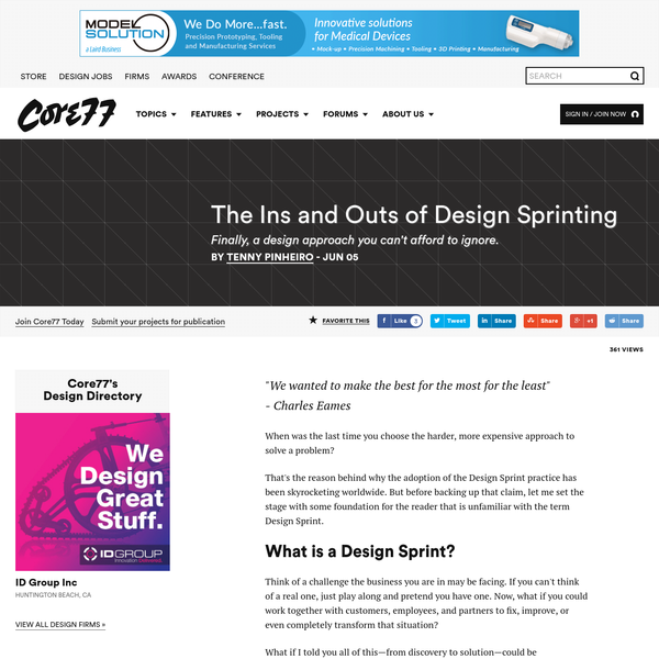 When was the last time you choose the harder, more expensive approach to solve a problem? That is the reason why the adoption of the Design Sprint practice has been skyrocketing worldwide.