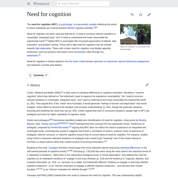 Need for cognition - Wikipedia