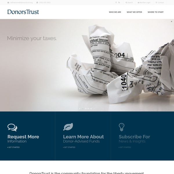 DonorsTrust - Building a Legacy of Liberty