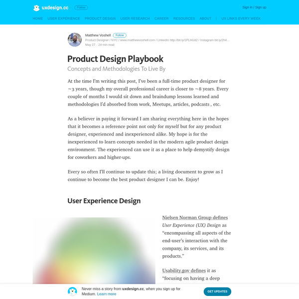 Product Design Playbook - uxdesign.cc