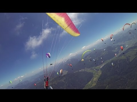 Read more in blog: http://paltakats.com/blog/650-km-28-hours-airtime Busy thermaling and race start at the Austrian Championships during task 3. (a 170 km FAI triangle) starting from Kössen, Unterberg. Paraglider: Ozone Enzo 2 Visit: http://flyozone.com Follow me: http://facebook.com/takats.pal Subscribe: http://bit.ly/Wqny08