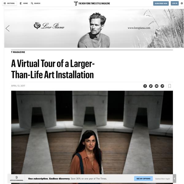 A Virtual Tour of a Larger-Than-Life Art Installation