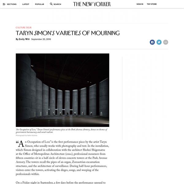 Taryn Simon's Varieties of Mourning