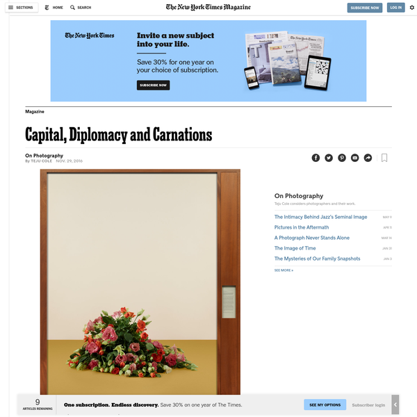Capital, Diplomacy and Carnations