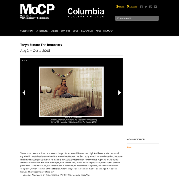 Taryn Simon: The Innocents   Museum of Contemporary Photography