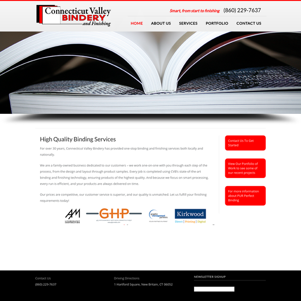 We are a Connecticut-based, family-owned bindery business specializing in high-quality custom book binding services and finishing options for our customers nationwide.  (Perfect bind)