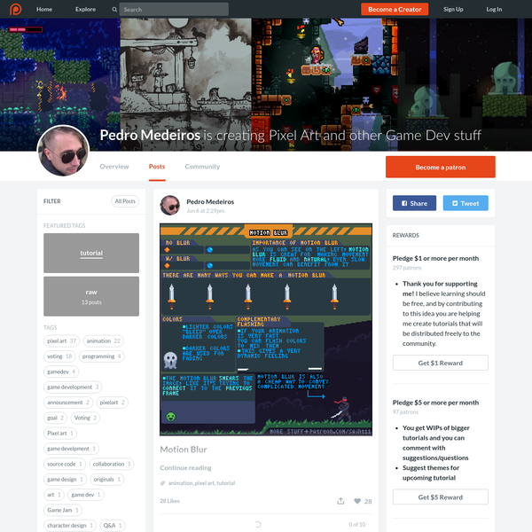 Pedro Medeiros is creating Pixel Art and other Game Dev stuff | Patreon