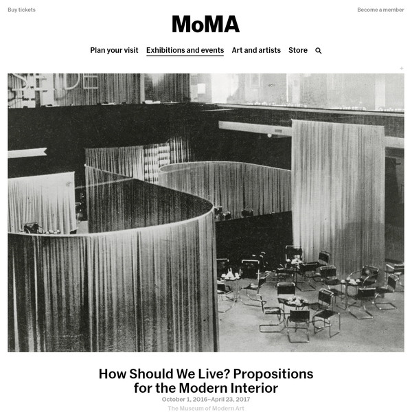 How Should We Live? Propositions for the Modern Interior | MoMA