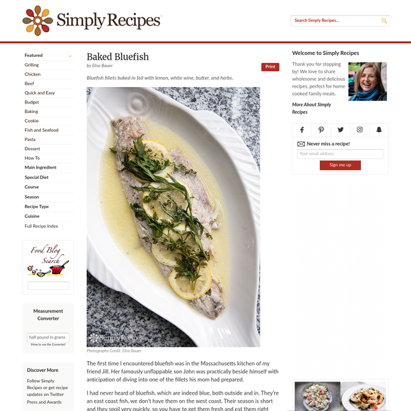 Baked Bluefish Recipe | SimplyRecipes.com