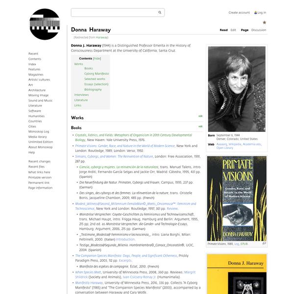 Donna Haraway - Monoskop
