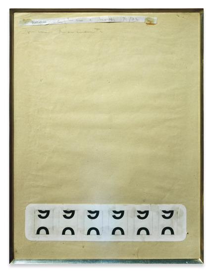 """Alighiero Boetti, """"Contatore"""", 1972/73"""