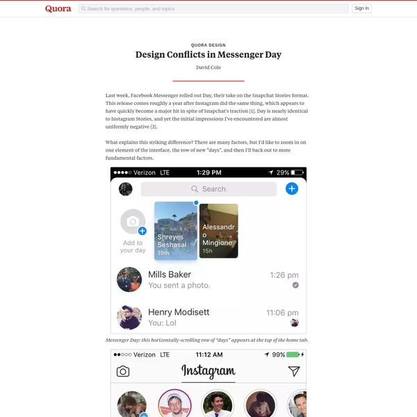 Design Conflicts in Messenger Day