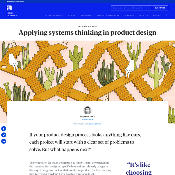 Applying systems thinking in product design - Inside Intercom