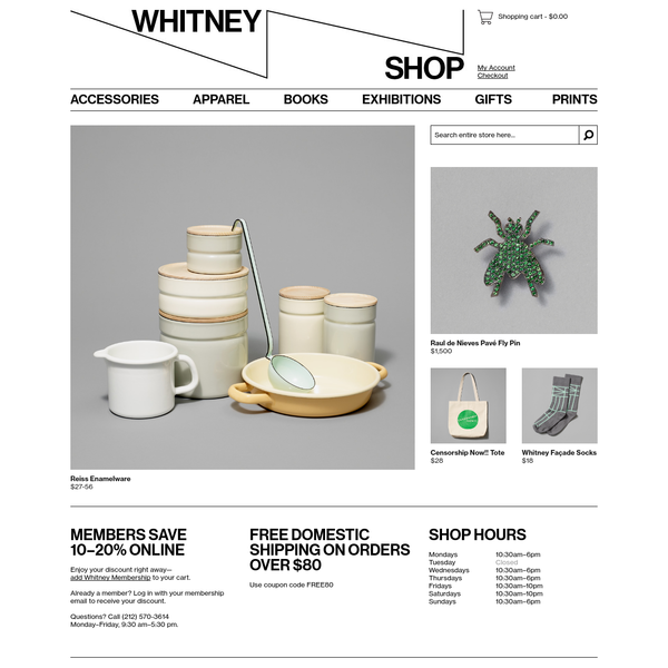 Whitney Museum Shop - Home Page