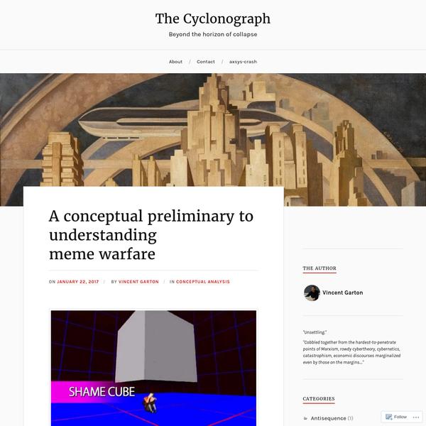 A conceptual preliminary to understanding meme warfare