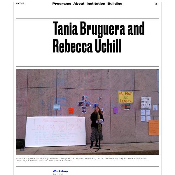 Tania Bruguera and Rebecca Uchill - Carpenter Center For Visual Arts