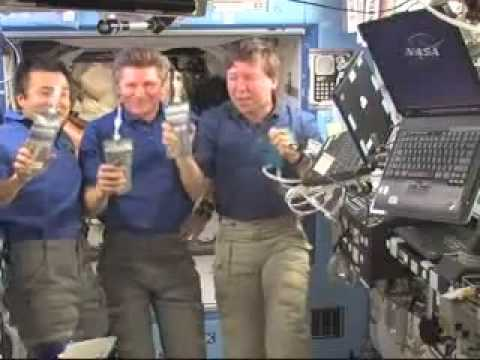 Space Station Crew Drinks Recycled Urine