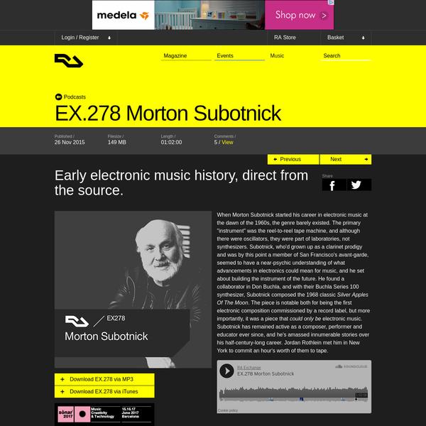 EX.278 Morton Subotnick