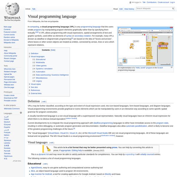 Visual programming language - Wikipedia