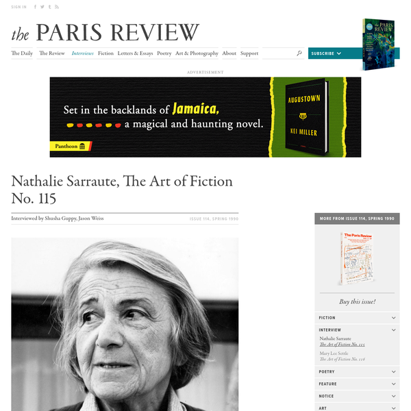Nathalie Sarraute, The Art of Fiction No. 115