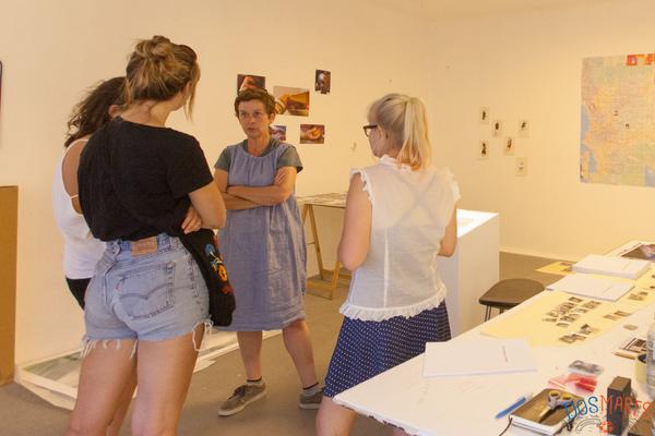 Rencontre avec le public de Liz-Ann Vincent-Merry à Dos Mares. Marseille, 16 juin, 2017.