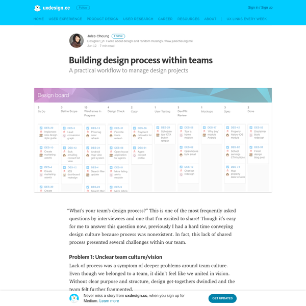 Building design process within teams - uxdesign.cc