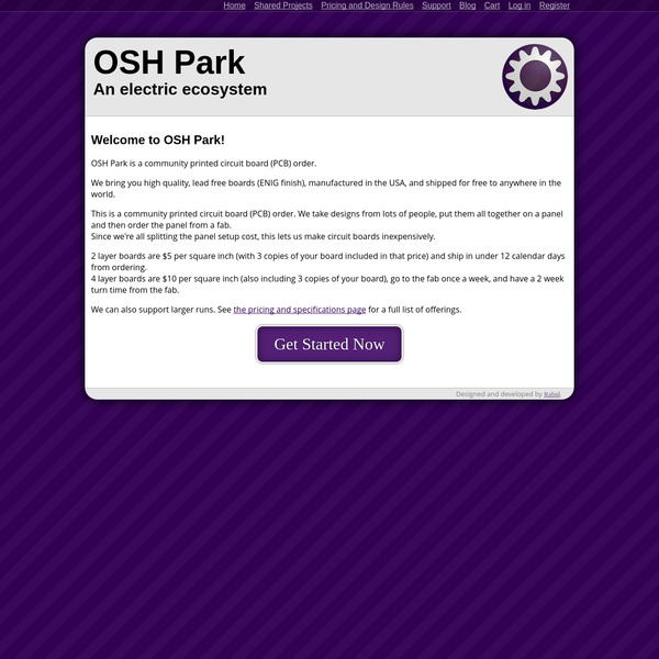 OSH Park ~ An electric ecosystem