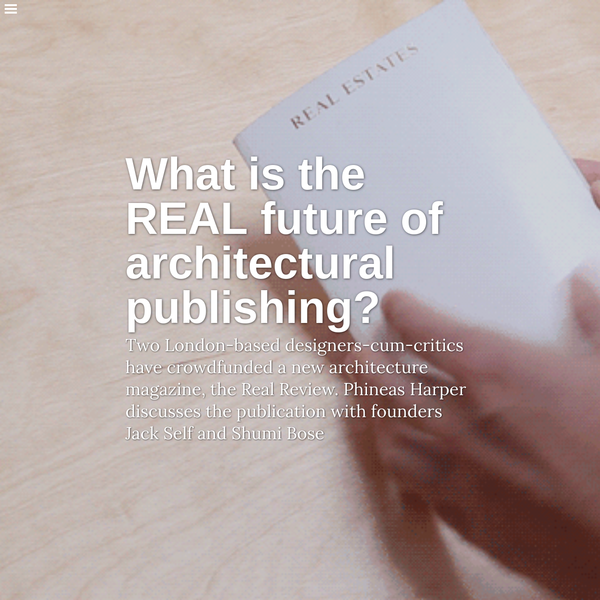 What is the REAL future of architectural publishing?   Architecture Foundation