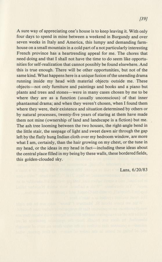 Mathews, Harry, _20 Lines a Day_ [1989] (Elmwood Park: Dalkey Archive Press, 1990), p. 39.