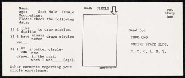 Yoko Ono, Draw Circle Event (1964–1965)