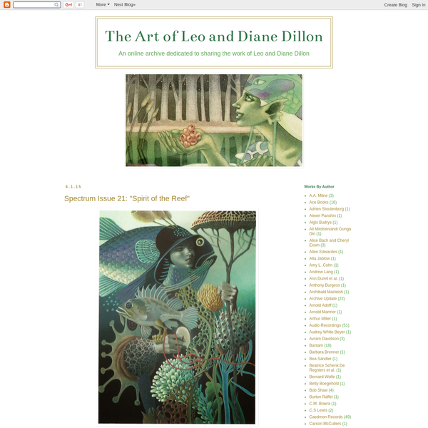 This is an unoficial blog dedicated to sharing the art of Leo and Diane Dillon, and providing information on the artists and their work. If any information displayed on the site is incorrect, or if something important has been left out, please feel free to contact me.