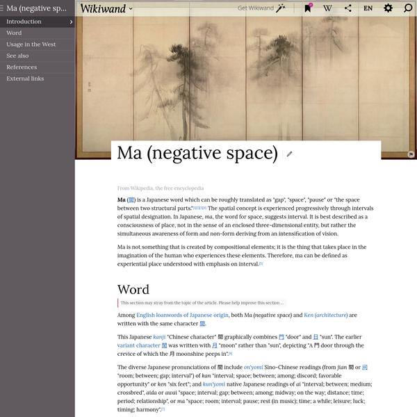 Ma (negative space)   Wikiwand