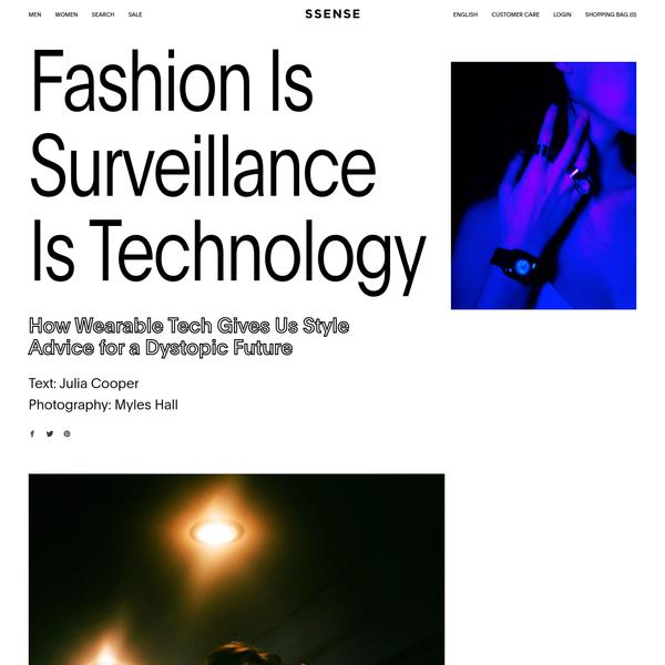 The dystopian future of wearable tech.