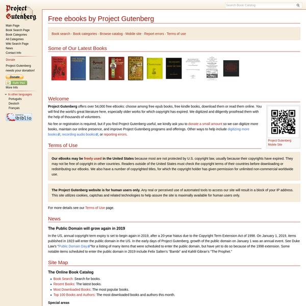 50,000 free ebooks to download (epub, kindle, android, ipad).