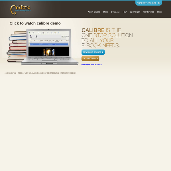 calibre: The one stop solution for all your e-book needs. Comprehensive e-book software.