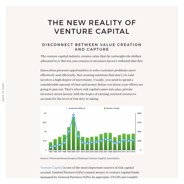 The new reality of venture capital