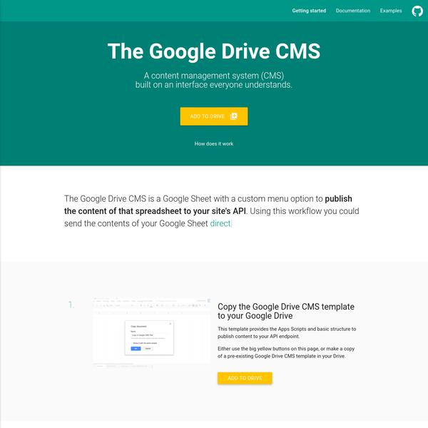 Google Drive CMS