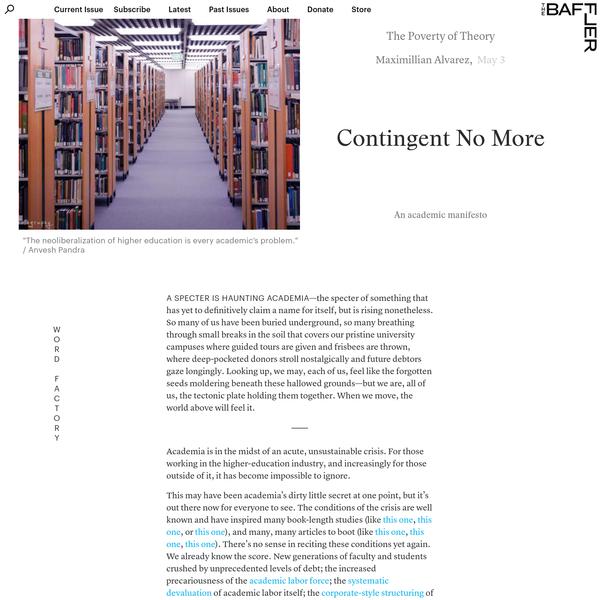 Contingent No More | Maximillian Alvarez