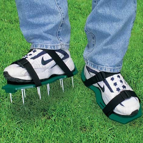 aerator lawn shoes