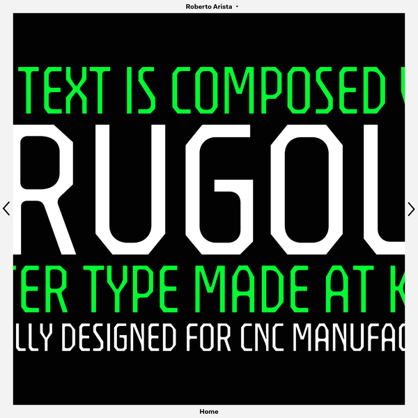 The purpose of my research is to streamline a production workflow which enables the making of affordable movable type supplies for educational environments. Brugola is a typeface designed in order to be manufactured with CNC technology. A router cannot deliver sharp corners in concave angles, so I decided to fully ...
