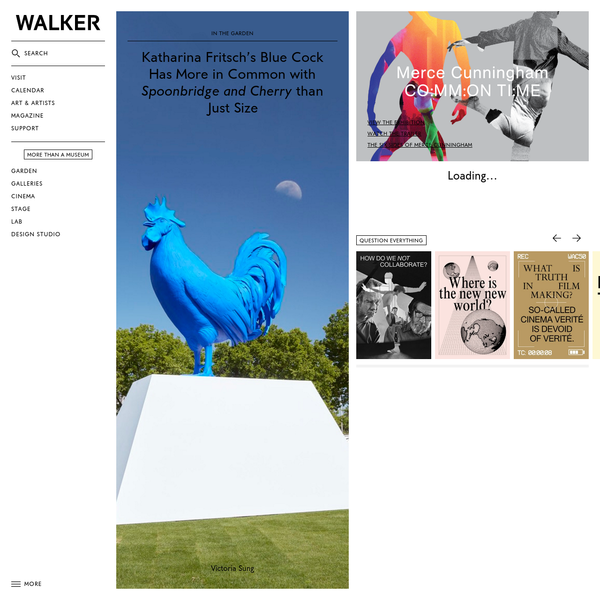 World-class contemporary art center in Minneapolis. Visit the Walker and the Minneapolis Sculpture Garden today.