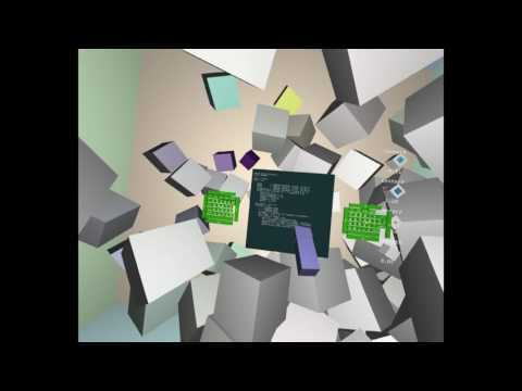 A livecoding playground for room-scale VR Steam: http://store.steampowered.com/app/458200 Twitter: http://twitter.com/rumpusland & http://twitter.com/lukexi