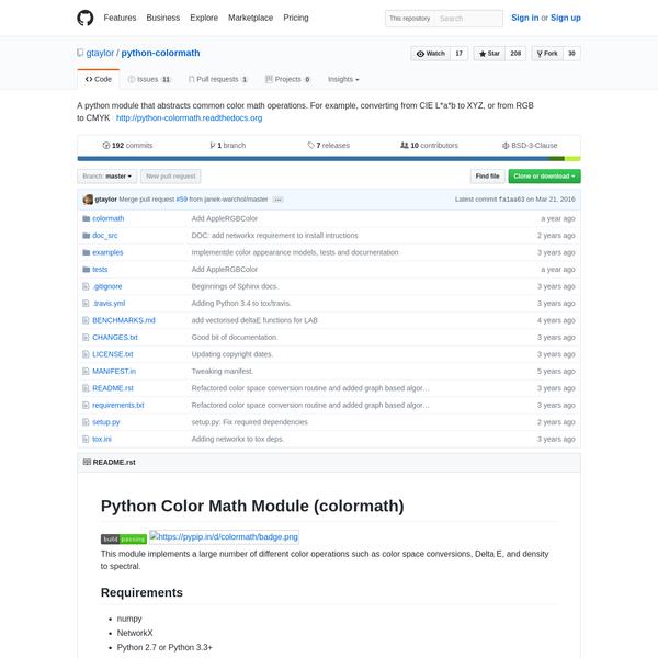 gtaylor/python-colormath