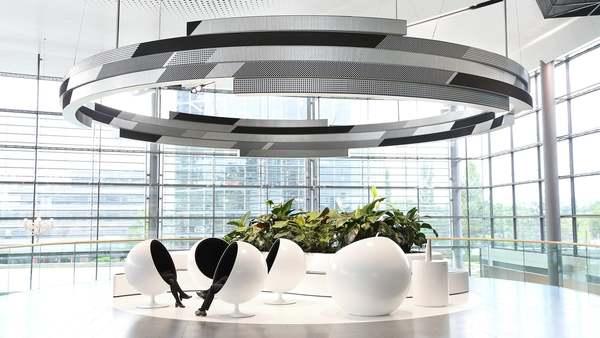 ORBITAL - circular flip dot display and kinetic sculpture - 180.000 pixels