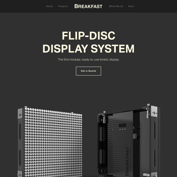 Flip-Disc Display System