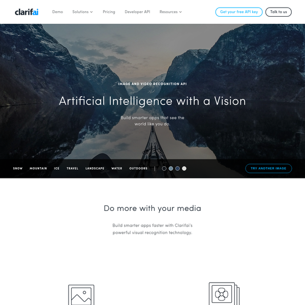 Build smarter apps faster with Clarifai's powerful visual recognition API. Automatically tag, organize, and search visual content with machine learning.