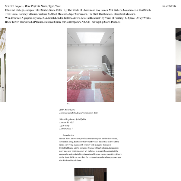 6a architects – Raven Row